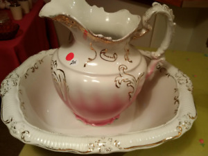 Antique Water Ewer and Basin