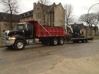 digging ,ecavating, hauling , trenching , drainage