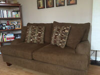 Love seat and seat and half