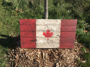Rustic Wood Flag, Canadian, Union Jack, Maple Leafs, World More