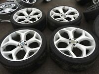 "22"" BMW X5 x6 x3 alloy wheels alloys rims 5x120 tyre tyres 2853522 bargain"