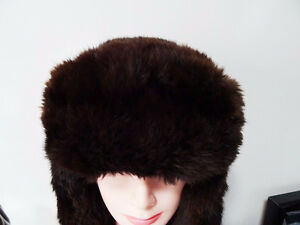 RUSSIAN FUR HAT shapka ushanka treukh EAR FLAPS trooper SABLE Kitchener / Waterloo Kitchener Area image 2