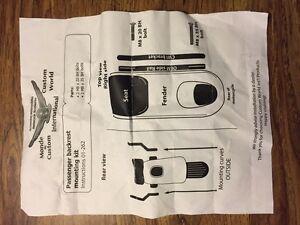 Honda Rebel mounting  kit for backrest