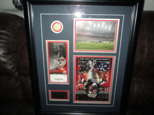 2005 Grey Cup Framed Commemorative Montreal/Edmonton