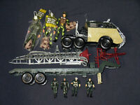 MILITARY TRUCK AND TRAILER WITH ARMY MEN