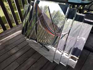 Large tiered mirror