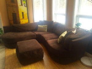 Sectional Corduroy Couch FOR SALE