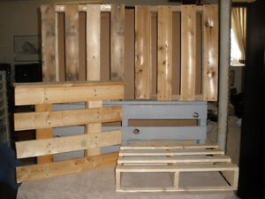 5 Assorted Wooden Pallets - Different Shapes and Sizes
