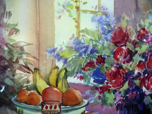 """A Morning Table by Nell LaMarsh """"Morning, By the Window"""" 1970's Stratford Kitchener Area image 4"""