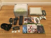 60gb XBOX 360 CONSOLE with 8 GAMES & GAMING HEADSET £40 no offers
