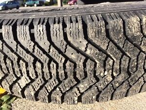 Four used winter tires with steel rims Kitchener / Waterloo Kitchener Area image 2