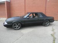 Wicked Looking Flat Black Mustang!!