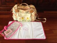 Yummy mummy pink lining blooming marvellous baby changing bag