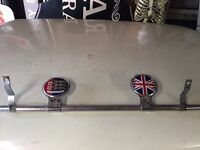 Classic vintage car desmo badge bar with x2 badges