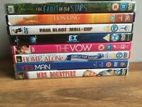 8 DVDs, the fault in our stars, lion king etc