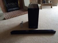 Panasonic SU-HTB20 television Soundbar/Speakers and Subwoofer