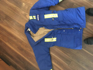 FR winter work coveralls and bibs