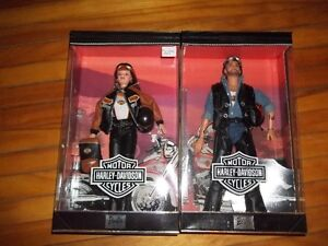 Harley Davidson Barbie's and Motorcycle