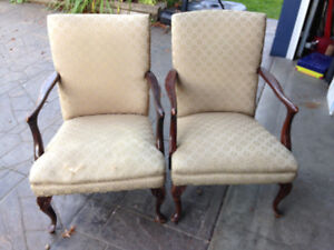 Matching pair of retro accent chairs