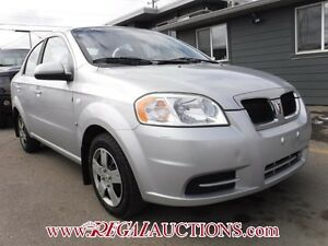 2008 PONTIAC WAVE BASE 4D SEDAN BASE