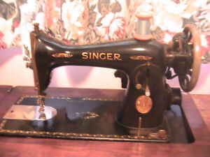 "Antique Singer ""In Cabinet"" Electric Sewing Machine"
