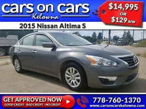 2015 Nissan Altima S w/BlueTooth, USB Connect $129B/W INSTANT AP