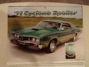 New 2001 MEMORABLE MUSCLE CARS 12 Month CALENDAR. Issued by APC. Sarnia Sarnia Area image 9