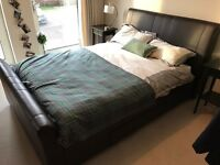 Mandalay Brown Bedstead and Double Mattress