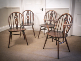 Ercol Dining Chairs X4 (including one carver)