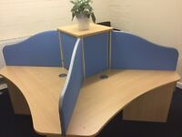 Office furniture desks, chairs, filing cabinets and cupboards