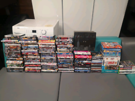 72. Selection of over 100 dvds, cds and x box games