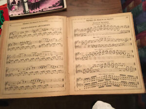 Vintage piano rolls & vintage musical books