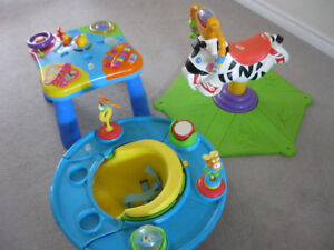Kids musical activity table,musical bouncing horse,feeding chair