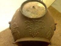 Antique cast iron 3 leg patio / garden stove