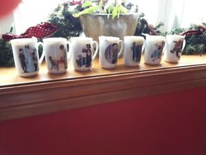 NORMAN ROCKWELL DESIGNER CUPS! Absolutely BEAUTIFUL GREAT CONDT!