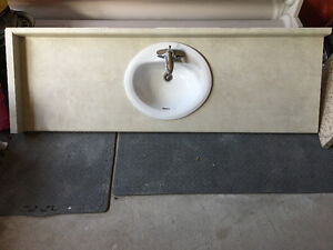 Bathroom counter top and sink