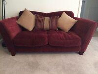 Antique velvet dark purple sofa