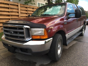Original Low KM, 1999 FORD F250 S/D, NO RUST.