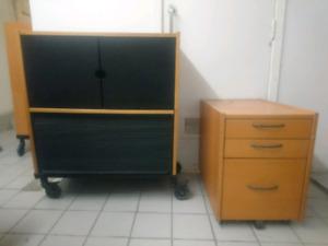 Drawer desk cabinet