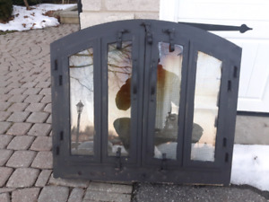 Wood Burning Fireplace Door