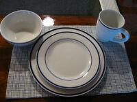 12 place setting Blue/White Dinnerware
