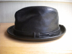 Medium NEW YORK HAT CO 100% Lambskin Rocky Derby Pork-Pie Stingy
