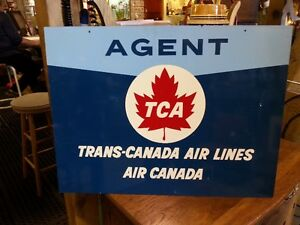 Trans Canada Air Lines - Agent Sign circa 1961 Double Sided