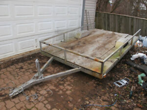 Flat deck utility trailer, great for snowmobile or ATV