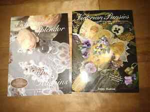 Victorian pansies and Victorian Splendor embroidery books
