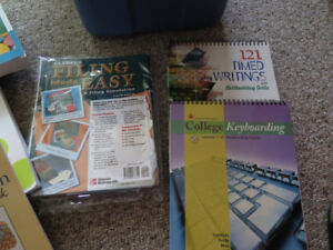 Textbooks and foot pedal for sale