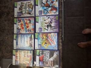 Xbox 360 Kinect games. 8 games for 25.00