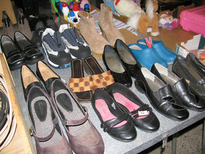 YARD/ESTATE SALE --SHOES/BOOTS/SANDALS--MOST AS NEW Kingston Kingston Area image 1