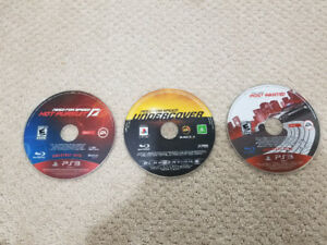 Need for speed undercover, hot pursuit and most wanted PS3