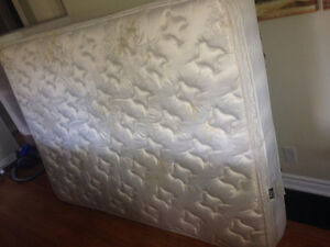 Double - King Coil -  box spring & mattress - excellent shape